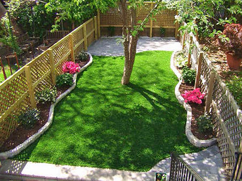 Artificial Turf Cost East Grand Rapids, Michigan Landscape Design, Small  Backyard Ideas