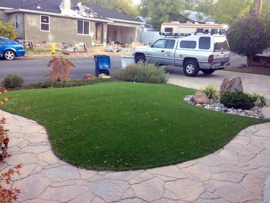 Artificial Grass Photos: Artificial Lawn Grosse Pointe Shores, Michigan Landscape Design, Front Yard Design