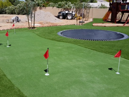 Grass Turf Augusta, Michigan Office Putting Green, Beautiful Backyards artificial grass