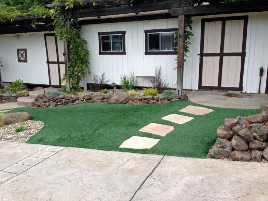 Artificial Grass Photos: Green Lawn Lincoln, Michigan Landscape Rock, Front Yard Design
