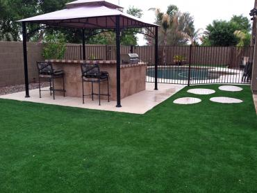 Artificial Grass Photos: Installing Artificial Grass Auburn Hills, Michigan Backyard Playground, Backyard Pool